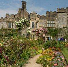 Haddon Hall Peak District UK Haddon all is probably the finest example of a fortified medieval manor house in existence dating from the century seat of the Dukes of. Jane Eyre, The Other Boleyn Girl, England And Scotland, English Countryside, Derbyshire, Architecture, Places To See, 12th Century, Beautiful Places