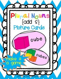 Plural Nouns: Picture Cards Activity {add S} - perfect for beginners. Studying basic regular plural nouns with adding -S? Then these cute and colorful cards may fit into your classroom activities. Speech Language Therapy, Speech And Language, Language Arts, Speech Pathology, Singular And Plural Nouns, Nouns And Verbs, Teaching Skills, Teaching Grammar, Teaching Ideas