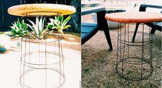 Cómo hacer una original mesa de jardín