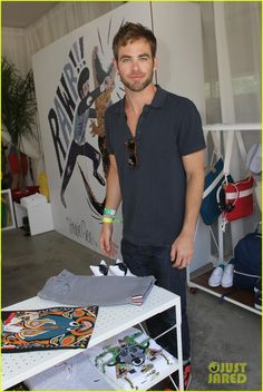 Chris Pine: Lacoste L!ve Pool Party!