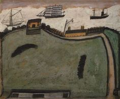 Alfred Wallis - One of the most original artists of the 20th century. Alfred Wallis only took up painting when he was over 70. Working on fragments of wood or cardboard  influenced by a life at sea, his simple paintings of boats are life affirming  inspiring!