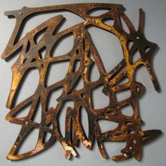 Rustic Modern Metal Art: Untitled No. 101 in Rusted Steel 23 X 23 Mid-Century Modern Organic Forms Floating Wall Art Sculpture Art Sculpture, Metal Wall Sculpture, Wall Sculptures, Metal Wall Art, Organic Forms, Organic Modern, Organic Shapes, X 23, Steel Art