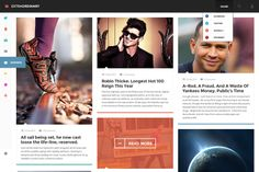 Extraordinary Modern Layout for Blogs psd free layout template web