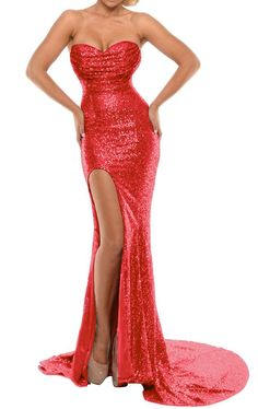 Looking for BEAUTBRIDE Women's Sexy Mermaid Evening Dress Slit Sequins Prom Formal Gown ? Check out our picks for the BEAUTBRIDE Women's Sexy Mermaid Evening Dress Slit Sequins Prom Formal Gown from the popular stores - all in one. Jessica Rabbit Dress, Jessica Rabbit Costume, Formal Prom, Formal Gowns, Strapless Dress Formal, Sequin Evening Gowns, Mermaid Evening Dresses, Prom Dresses 2017, Sexy Dresses