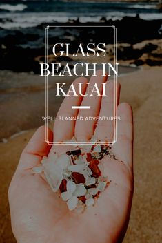 This famous beach on Kauai is made entirely of beach glass Beach Vacation Tips, Kauai Vacation, Hawaii Honeymoon, Kauai Hawaii, Hawaii Travel, Vacation Trips, Beach Vacations, Hawaii Life, Hawaii Beach