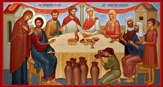 """""""The Wedding Feast of Cana"""" Icon Wall Plaque - Catholic to the Max - Online Catholic Store Religious Images, Religious Icons, Religious Art, Catholic Books, Catholic Art, Catholic Store, Divine Mercy Chaplet, Inexpensive Wedding Venues, Wedding Planning Websites"""