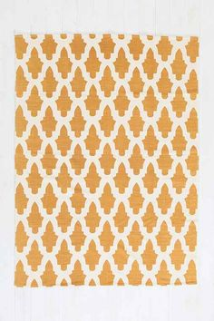 Magical Thinking Flourish Tile Handmade Rug - Urban Outfitters, size 8x10, price 199.00, color gold