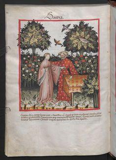 Folio 104v (page 212). Tacuinum sanitatis, Codex Vindobonensis, series nova 2644. North Italy, probably Verona, 1380-1399.