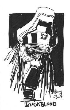 Henry Flint_General Blackblood ABC Warriors sketch