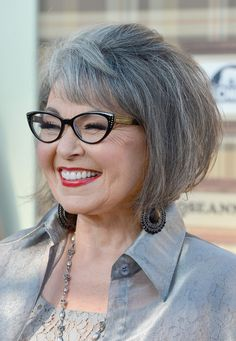 Roseanne Barr...She needs to lighten up on the blue, unless she wants it that way, which is cool.