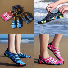 Water Shoes Quick-Dry Barefoot Skin Socks Aqua Beach Swim Sports Vacation TS Ted Baker, Non Slip Socks, Aqua Socks, Diy Clothes Videos, Diy Videos, Beach Shoes, Woman Beach, Unisex, Shoes
