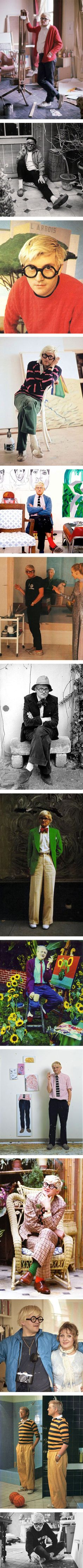 14 cool photos of David Hockney's best style moments via Nuji.com