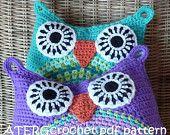 Crochet pattern owl cushion by ATERGcrochet