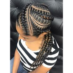 85 Box Braids Hairstyles for Black Women - Hairstyles Trends Black Girl Braids, Braids For Black Hair, Girls Braids, Braids For Black Women Cornrows, Feed In Braids Hairstyles, Girl Hairstyles, 4 Feed In Braids, Shaved Hairstyles, Hairstyles 2018