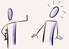Symbol für Informationen zurückhalten. Erstellt mit Hilfe von Paper 53 auf dem iPad. #Trainer #Visualisierung #Trainertipp