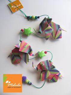 Móvil Origami: gatos, elefanteces, peces, perros, $70 en https://ofelia.com.ar