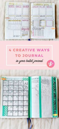 Journaling in a Bullet Journal: 4 Simple Ideas #bulletjournal #bulletjournalideas #planner https://productiveandpretty.com/journaling-in-a-bullet-journal/?utm_campaign=coschedule&utm_source=pinterest&utm_medium=Productive%20and%20Pretty&utm_content=Journaling%20in%20a%20Bullet%20Journal%3A%204%20Simple%20Ideas