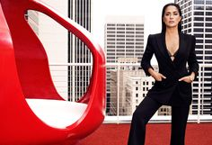 As we celebrate this year's Women in Hollywood honorees, take a look at the group of talented, powerful women they join. Elle Magazine, Salma Hayek, Powerful Women, In Hollywood, Take That, Actors, Studio, Celebrities, Heels