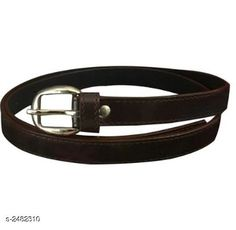 Belts Matte Leather  Women's Belt Material: Matte Leather   Size: 28 in To 34 in  Description: It Has 1 Piece Of Women's Belt Pattern : Solid Country of Origin: India Sizes Available: Free Size   Catalog Rating: ★3.9 (628)  Catalog Name: Stylish Matte Leather Women'S Belts Vol 18 CatalogID_333466 C72-SC1081 Code: 131-2482310-981