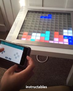 MarkQ8 created a Bluetooth controlled Arduino LED coffee table that allows you to play #Tetris #Instructables #electronics #technology #game Useful Arduino Projects, Play Tetris, Arduino Led, Create Animation, Led Strip, Sd Card, Bluetooth, Technology, Electronics