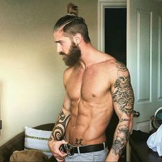 Beard and man bun