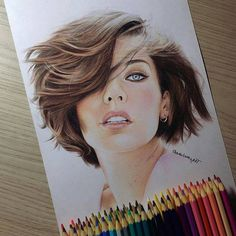 Girl color pencil drawing by pedrolopesart http://webneel.com/25-beautiful-color-pencil-drawings-valentina-zou-and-drawing-tips-beginners | Design Inspiration http://webneel.com | Follow us www.pinterest.com/webneel