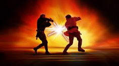 Star Wars wallpaper: Battle of the Heroes by McNealy @ deviantart