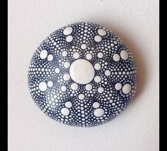 Garden Ornaments – Dot Art Mandala Painted Rock - Fairy Garden Henna – a unique product by CreateAndCherish on DaWanda
