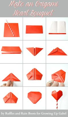 Origami Bouquet and Garland Instructions