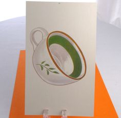 Vintage CUP Spanish Large Educational Flash Card by theoldmilkbarn