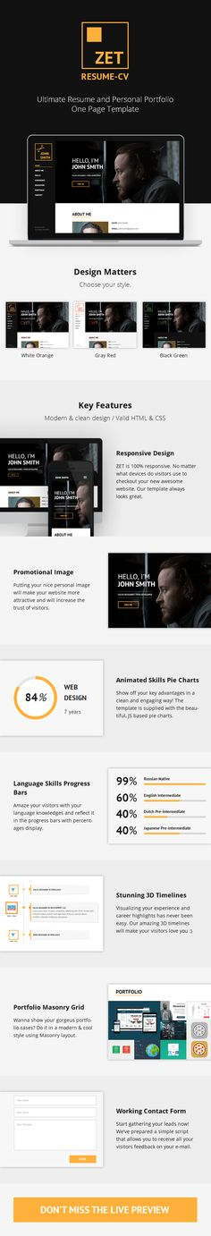 ZET - One Page Resume/Personal Portfolio HTML Template (Personal) Nulled - http://nulledzero.com/zet-one-page-resumepersonal-portfolio-html-template-personal-nulled/ - ZET – One Page Resume/Personal Portfolio HTML Template (Personal) Nulled Free download   down – a clean, responsive and easy to use HTML5 template based on Bootstrap 3 framework. This template is ideal for people who want to quickly set up their own website and to highlight the...