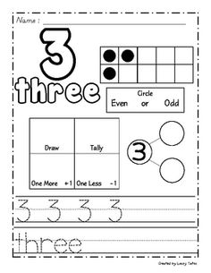 Free download of numbers for writing and learning them!
