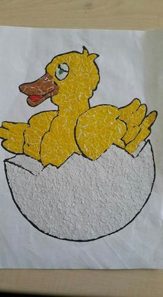 Chick Tearing-Pasteing Source by nazlidoganer Related posts: Chick-fil-A Cow Day {Pappteller Kuhmasken mit kostenlosen Ausdrucken} Chick Craft For Kids made out of paper hearts art project Farm Animal Crafts, Sheep Crafts, Animal Crafts For Kids, Spring Crafts For Kids, Paper Crafts For Kids, Craft Stick Crafts, Preschool Crafts, Art For Kids, Children Crafts