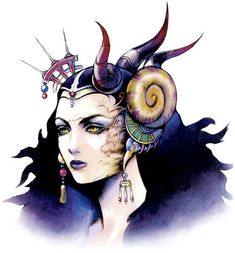 Week 8 - Final Fantasy VIII - Concept Art Mon - Edea