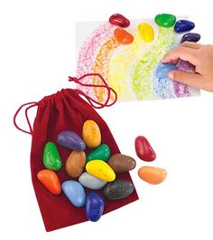 Crayon Rocks...  Could make this DIY, but probably not for less than the $8.98