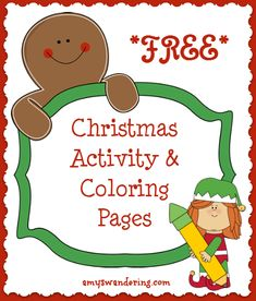 Websites with oodles of FREE Christmas Activity Coloring Pages Christmas Worksheets, Christmas Activities, Preschool Activities, Christmas Fun, Christmas Decorations, Free Worksheets For Kids, Free Homeschool Curriculum, Kids Church, Winter Ideas