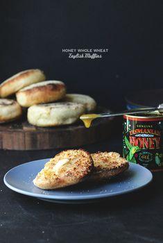 Honey Whole Wheat English Muffins | The Sugar Hit!