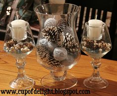 Cup of Delight: Winter Centerpiece {Delightfully Nesting}