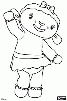 Doc McStuffins coloring pages Cute Coloring Pages, Disney Coloring Pages, Coloring Sheets, Coloring Books, Doc Mcstuffins Coloring Pages, Doctor Mcstuffins, Doc Mcstuffins Birthday Party, Disney Junior, Craft Activities For Kids