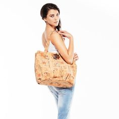 SALTARELLO - Eco Friendly and Ethical Vegan Cork Bag with 100% certified Organic Cotton