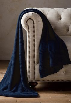 The perfect throw for when the weather is chilly. Woven from 100% long staple Turkish cotton, this ribbed throw is as soft as it is cozy.