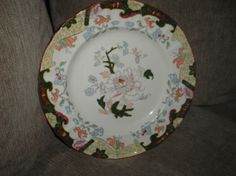 Antique Mason s Hand Painted Ironstone Plate c 1840