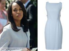 Scandal: Season 4 Episode 17 Olivia's Blue Sheath Dress
