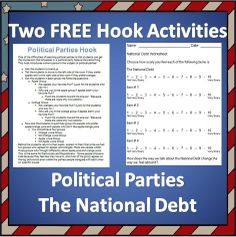 Economics shifting supply demand social studies worksheets and two free hook activities on political parties and that national debt five pages for free fandeluxe Gallery