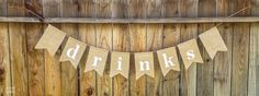 Burlap Banners for Simple Country Weddings | Let's Eat Grandpa