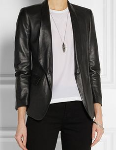 BAND OF OUTSIDERS Leather blazer