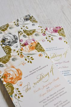 Beautiful Watercolor Rose Wedding Invitations From The David Tutera Collection Shown In Poppy Mulberry And Black Over 40 More Colors To Choose