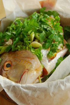 steamed fish, asian style by 80 Breakfasts, via Flickr