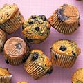 """Healthy Banana-Blueberry Muffins from Martha Stewart Living. This one is touted as """"light"""" and """"moist."""" I'm not happy with my blueberry muffin recipe, so I think I'll try this one."""