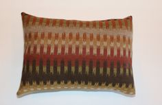Exclusive 12x16 Brown Rust Beige Kilim Lumbar Pillow by DecorTreasures on Etsy